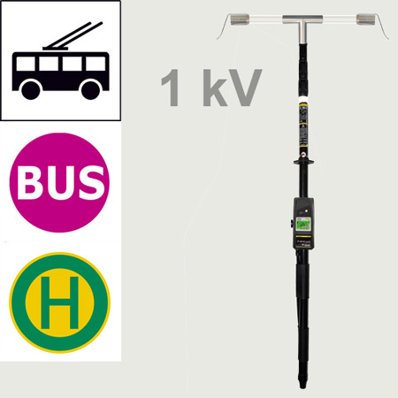 Telescope voltage testers for trolley buses